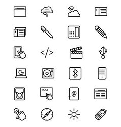 Communication line icons 6 vector