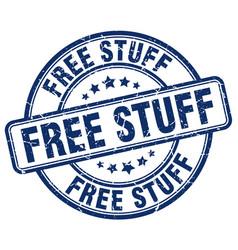 Free stuff blue grunge round vintage rubber stamp vector