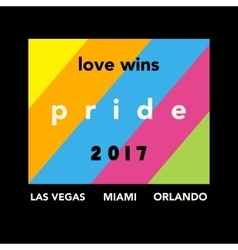 Gay pride 2017 poster vector