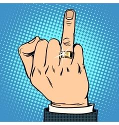 Groom wedding gold ring vector