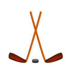 hockey set icon on white vector image vector image