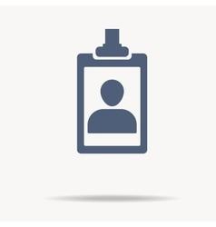 Identification card icon single flat icon on vector