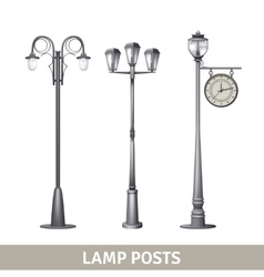 Lamp post set vector