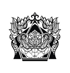 Lotus tattoo design vector