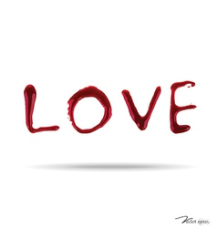 LOVE dripping blood vector image