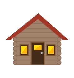 Merry christmas house isolated icon vector