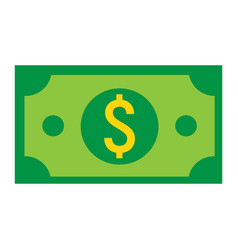Money dollar flat icon business and finance cash vector