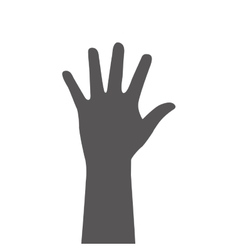 open hand silhouette design vector image