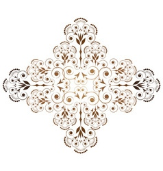 ornamental vignette vector image