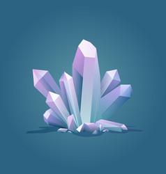 Quartz geometric crystal luxury color ice crystal vector
