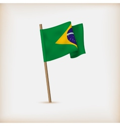 Realistic Flag Of Brazil vector image