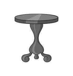 Round table icon black monochrome style vector