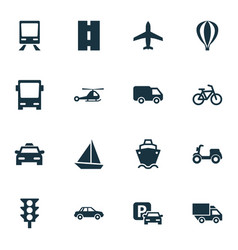 Shipment icons set collection of road sign way vector