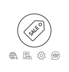 Shopping tag line icon sale coupon sign vector