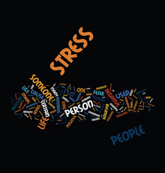 The positive side of stress text background word vector