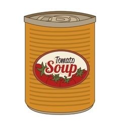 Tomato soap canned isolated icon vector image