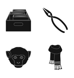 Training animal and other web icon in black style vector