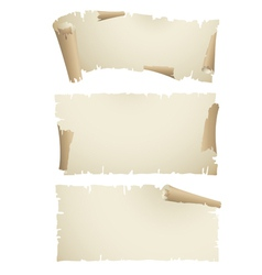 Old paper scroll banners vector