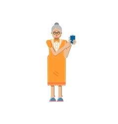 Isolated of european retiree elderly vector