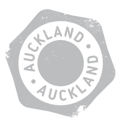 Auckland stamp rubber grunge vector image