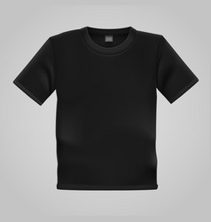Black t-shirt template isolated on white vector