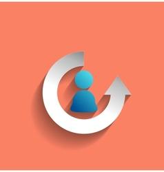 user icon modern flat design vector image