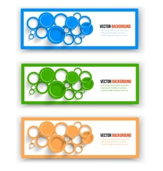 Collection web banner design vector