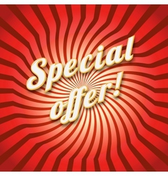 Special offer on a dynamic background for your vector