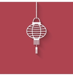 Chinese lantern design element vector