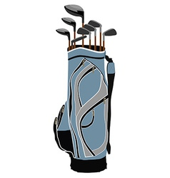 Golf clubs bag vector