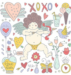 Valentines Day Doodle Collection vector image