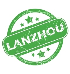 Lanzhou green stamp vector