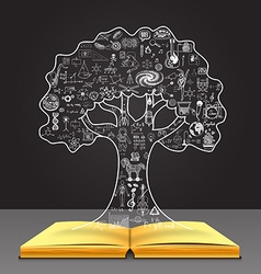 Tree concept on the book vector