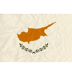 Cyprus paper flag vector