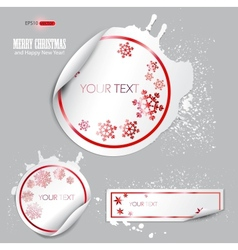 Winter bubbles vector