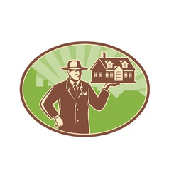 Real estate salesman vector