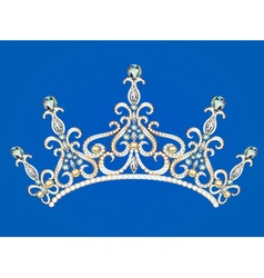 beautiful female diadem vector image