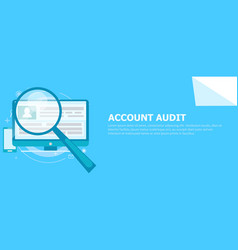account audit banner vector image vector image