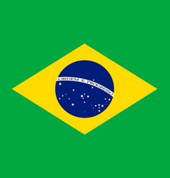Brazil flag background vector