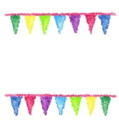 Bunting background engraving pennants vector