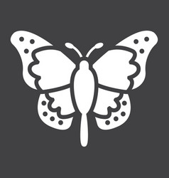 Butterfly glyph icon easter and holiday vector
