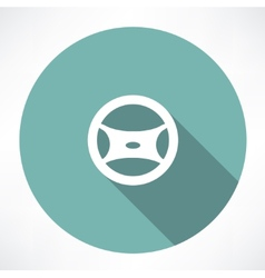 Cars steering wheel vector