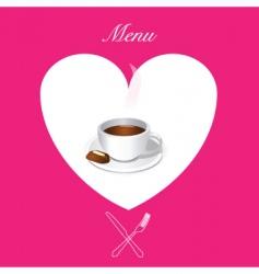 coffee menu cover vector image vector image