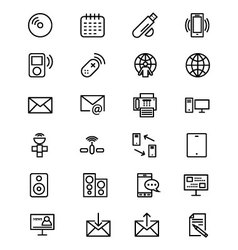 Communication Line Icons 7 vector image vector image