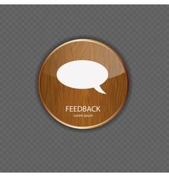 Feedback wood application icons vector