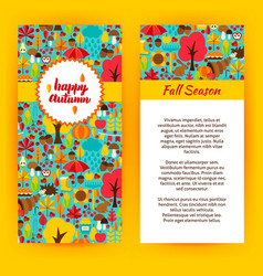 Flyer template of happy autumn vector