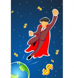 flying businessman vector image vector image