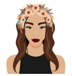 girl with wreath vector image
