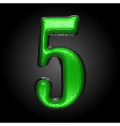 Green plastic figure 5 vector