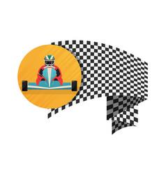 kart championship symbol icon vector image
